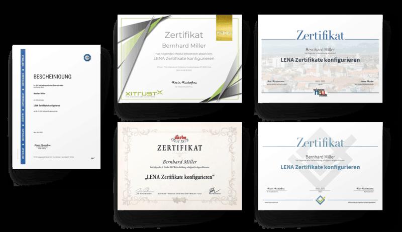 Ein individualisiertes Zertifikat